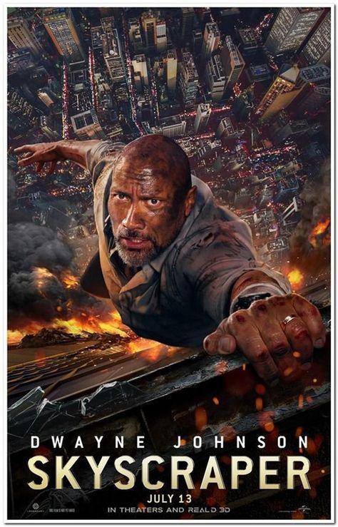 Skyscraper 2018 Original 27x40 D S Advance B Etsy In 2020 Action Movies B Movie Movie Posters Vintage Originals