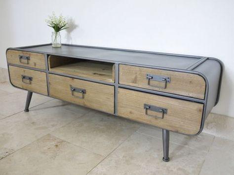 Retro Vintage Industrial TV Cabinet /urban /vintage /media store ...