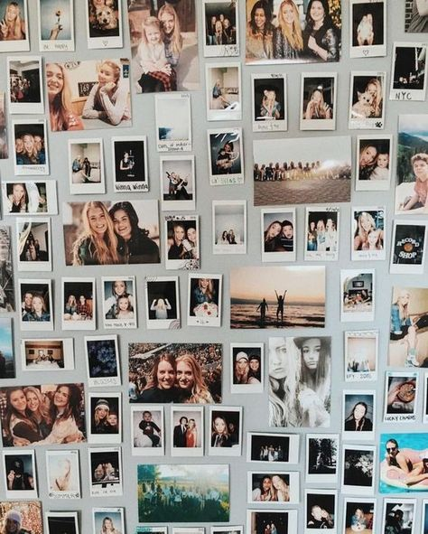 Creative Polaroid Picture Display Inspirations – The Urban Interior - Dream rooms Polaroid Wand, Photo Polaroid, Mini Polaroid, Tumblr Polaroid, Polaroid Camera, Polaroid Pictures Display, Polaroid Display, Polaroids On Wall, Polaroid Collage