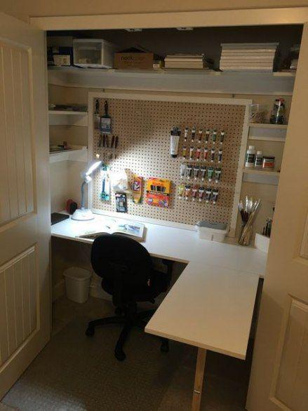 Bedroom Closet Desk Doors 38 Ideas Closet Desk Craft Room Closet Creative Closets