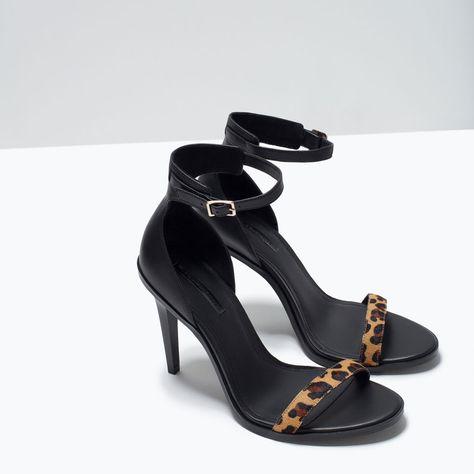 2caf837fea2 HIGH HEEL LEOPARD PRINT LEATHER SANDAL-Sandals-Shoes-TRF