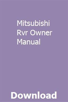 Mitsubishi owners manuals online