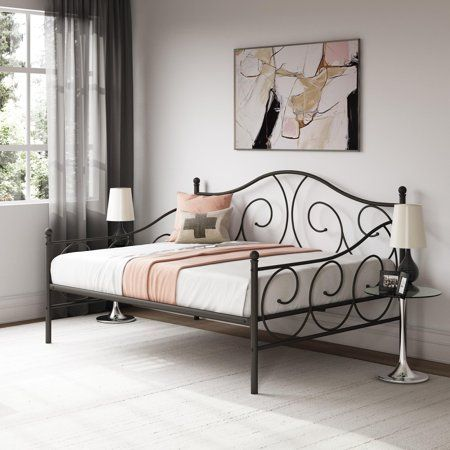 RealRooms Vivana Metal Daybed Frame Multiple Colors and Sizes