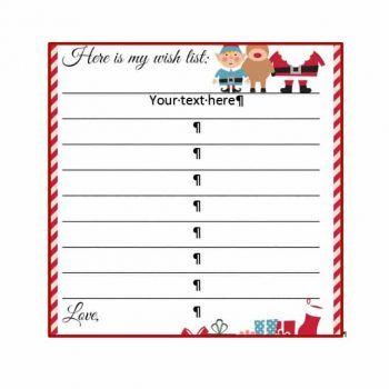Christmas Wish List Templates 13 Free Printable Xlsx Docs Formats Christmas Wish List Template Birthday Card Template Greeting Card Template