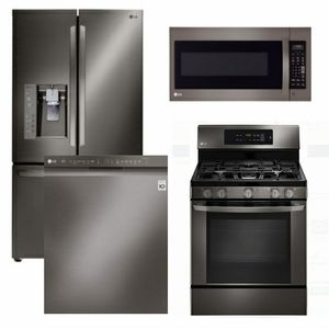 Package Lgbd2 Lg Appliance Package 4 Piece Appliance Package With Gas Range Black Sta Modular Outdoor Kitchens Outdoor Kitchen Appliances Outdoor Kitchen