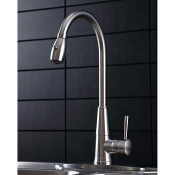 afa stainless pull down kitchen faucet
