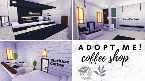 Modern Coffee Shop Speed Build Luxury Apartment Roblox Adopt Me Luxury Apartments Modern Coffee Shop Home Roblox
