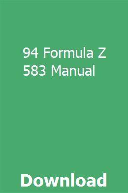 94 Formula Z 583 Manual Manual Bucyrus Erie Motor Grader