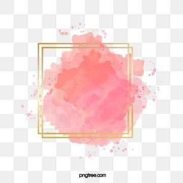 فرشاة ألوان مائية متدرجة باللون الوردي تأثير فرشاة الحدود الذهبية ألوان مائية فرشاة زهري Png والمتجهات للتحميل مجانا Watercolour Texture Background Flower Background Wallpaper Watercolor Brushes