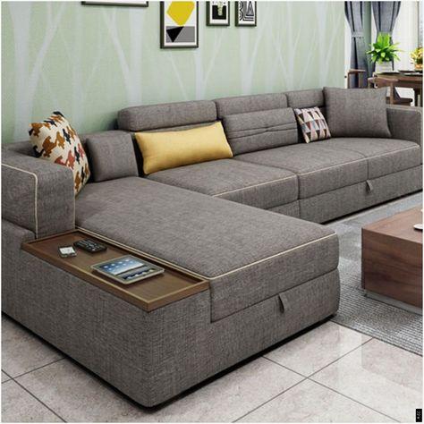 L Shape Sofa Set With Storage Baci Living Room ... #Shape #Storage #Living