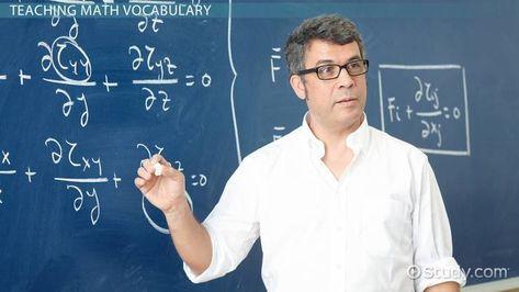 How to Teach Math Vocabulary
