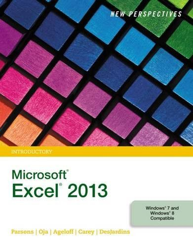 new perspectives on microsoft excel 2013 introductory standalone