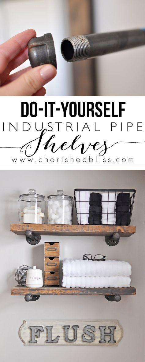 How to build diy industrial pipe shelves pipes industrial and shelves solutioingenieria Images