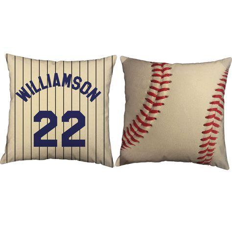 Baseball Jersey Throw Pillows