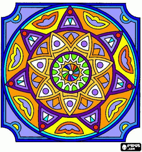 Colorir Mandalas Coloridas Gratis Mandalas Para Colorir