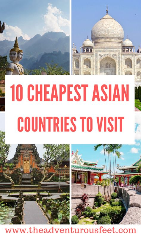 Want to travel to Asia on a budget? Here are the cheapest asian countries to visit. |asian countries for backapackers|countries in asia to visit |cheapest places to backpack #cheapestcountriesinasia #cheapdestinationsinasia