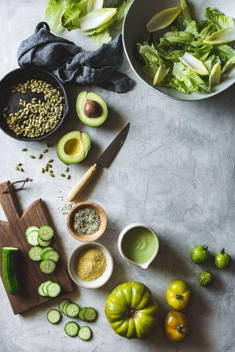 Summer Vegan Green Goddess Salad