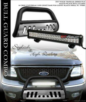 Sponsored Ebay Matte Blk Bull Bar Guard Skid 120w Cree Led Light For 97 03 Ford F150 Expedition Led Fog Lights Cree Led Ford F150