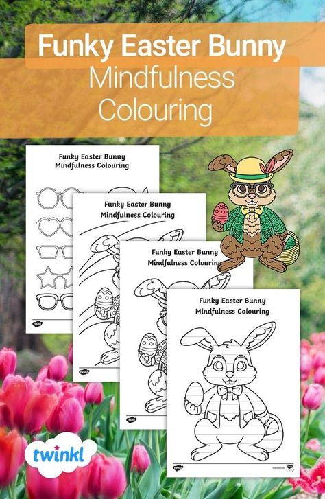 Get creative this Easter with our funky Easter bunny colouring template! Children can choose to colour a mindfulness bunny template or use the blank Easter bunny outline to create their own mindfulness patterns. The pack also includes a set of cut-out props to personalise each picture! Click to download and discover more Easter crafts over on the Twinkl website. #easter #easterbunny #eastercrafts #colouring #craftsforkids #parents #homelearning #homeeducation #twinkl #twinklresources #papercraft