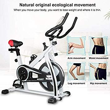 Enow Indoor Cycling Bike Professional Stationary Exercise Gym Belt Drive Bicycle Equipment For 280lbs With Lcd Monitor High Weight Capacity Heavy Duty Flywh