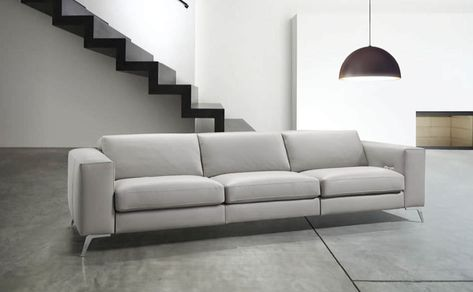 Contemporary Sofa Fabric Leather