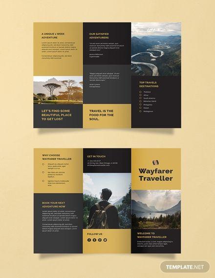 Free Tri Fold Travel Brochure Travel Brochure Template