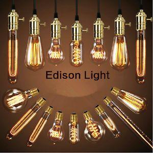 A Filamento De Las Bombillas De Luz Retro Vintage Antiguo Industrial Estilo Edison Lampara E27 40w Edison Light Bulbs Light Bulb Vintage Edison Bulbs