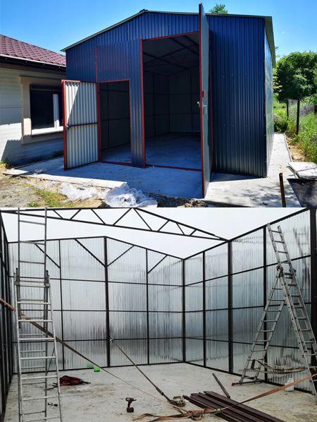 Garaz Blaszany Z Dachem Dwuspadowym Hale Wiaty 5x7 9238416996 Oficjalne Archiwum Allegro Shed Outdoor Garage Doors