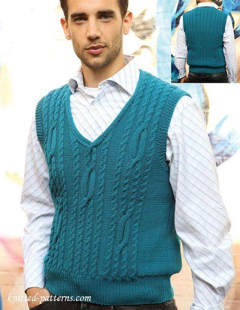 Tank Top Knitting Pattern Free Knit Vest Pattern Free Knit Tank Top Pattern Men Sweaters Pattern