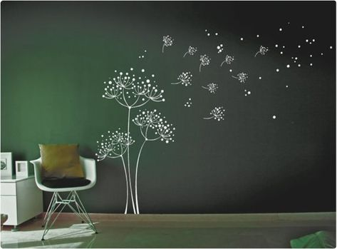 Dandelion wall decal with Butterflies Wall Sticker Decals Home Decor by DecalIsland Stylish Modern Flowers with Butterflies SD 046