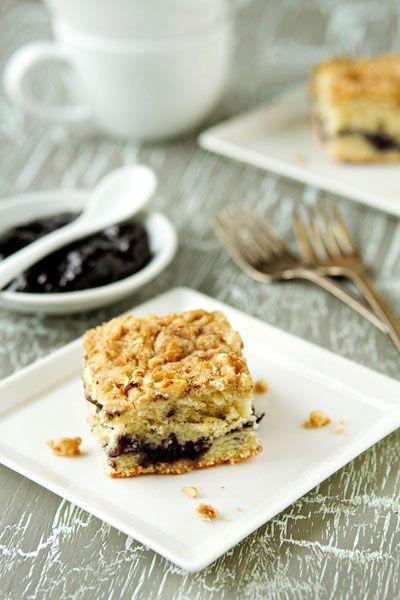 Simple Lemon-Blueberry Coffee Cake