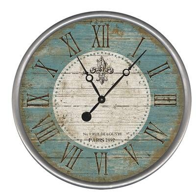 Kenn Round 29 Wall Clock Farmhouse Wall Clocks Oversized Wall Clock Wall Clock
