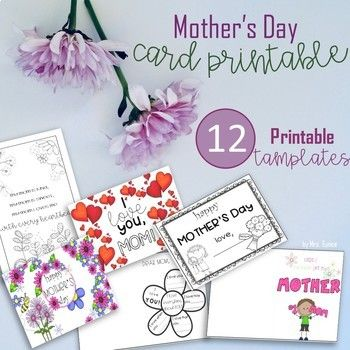 Editable Mother S Day Cards Printable Templates Mothers Day Cards Mothers Day Card Template Mothers Day Cards Printable