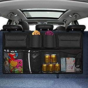 Big Ant Back Seat Trunk Organizer,Space Saving Car Trunk Storage Organizer with Lid Keep Your Trunk Clean and Tidy 2 Large Pockets Car Organizer for Kids,Travel