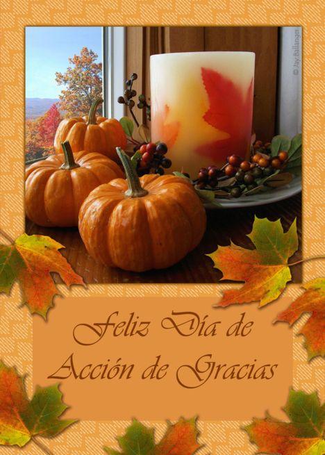 Feliz Dia De Accion De Gracias Happy Thanksgiving In Spanish Card Ad Sponsored De Accion Feliz Thanksgiving Wishes Harvest Festival Pumpkin Cards