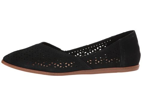 81856b84371 TOMS Jutti Flat Women s Flat Shoes Black Suede Mosaic Tile in 2018 ...