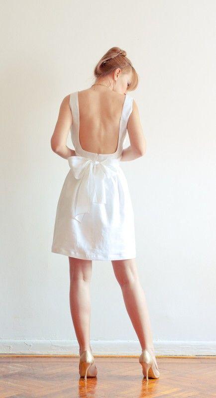 b99e9167161 low-back white linen dress  with pockets . lana stepul on etsy.  189 ...