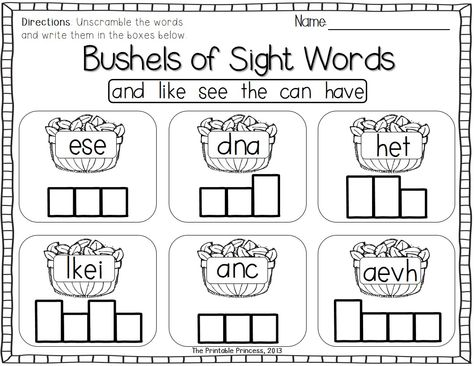 Fall and November themed activities for Kinders.