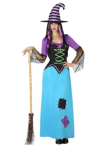 Déguisement sorcière rapiécée Halloween : Ce déguisement pour adultes est composé d'une jupe, d'un top et d'un chapeau (balai, perruque et chaussures non inclus).Donnant l'illusion d'un corset, le...