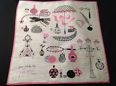 2543 Rare Designer Sign Novelty Hanky For You Souvenirs Best
