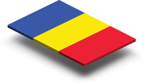 Romania Flag In Rich Quality Definition From Left To Right The Flag Has Three Blue Yellow And Red Vertical Stripes Blue Represent Flag Stripes Red