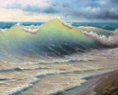 197++Stormy+Surf+11x+14++Gallery+Wrap+by+vladimirmesheryakov
