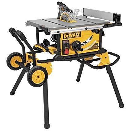 Dewalt Dwe7499gd 10 Inch Jobsite Table Saw With Rolling Stand And Guard Detect Review 10 Inch Table Saw Portable Table Saw Jobsite Table Saw
