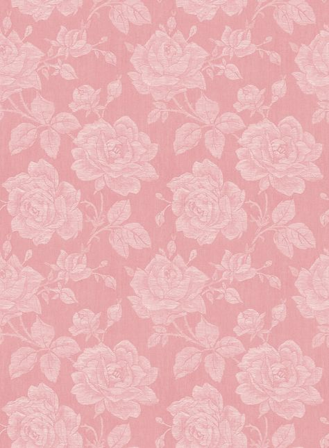 Sample Garden Rose Wallpaper in Coral from the Spring Garden Collection by Wallquest