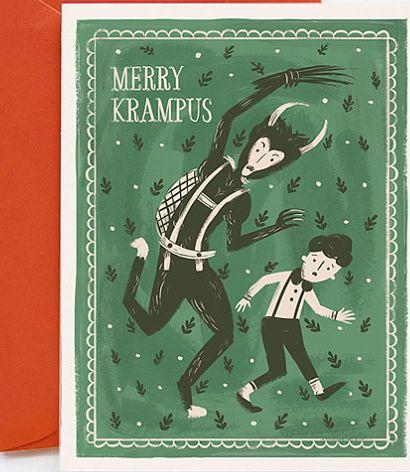 Merry Krampus Card