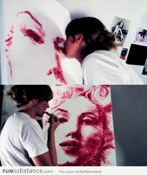 Literally lipstick art