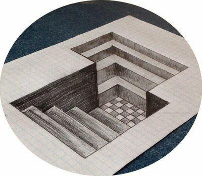 Dibujo 3d De Escaleras Geometricas Y Peculiares Trucos Y Tecnicas De Dibujo Dibujos 3d A Lapiz Dibujos Abstractos Dibujos 3d