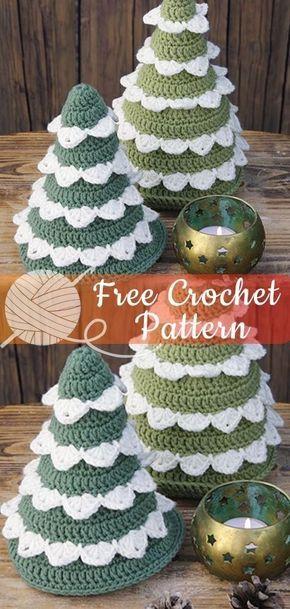 23 Christmas Crochet Ideas Captain Decor Crochet Christmas Trees Pattern Crochet Christmas Trees Free Christmas Crochet Patterns