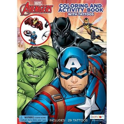 Avengers Coloring Book With Tattoos Avengers Coloring Avengers Marvel Coloring