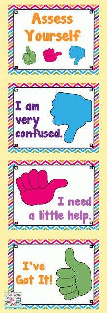 Self Assessment posters, FREEBIE